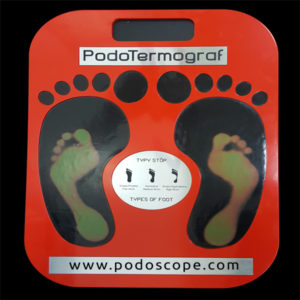 Thermal podoscope plate for basic foot diagnostic