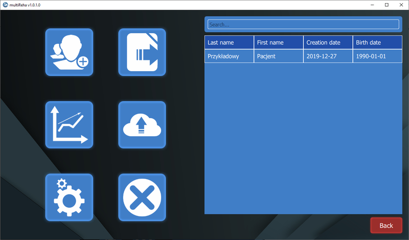 menu Easy Resize.com  - MultiReha® – multifunctional diagnostic and therapeutic software